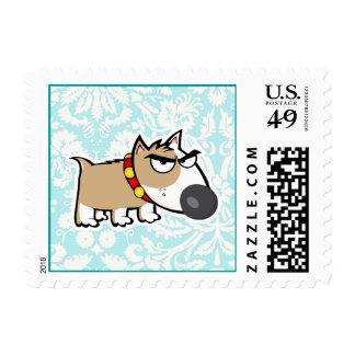 Perro gruñón, lindo sello