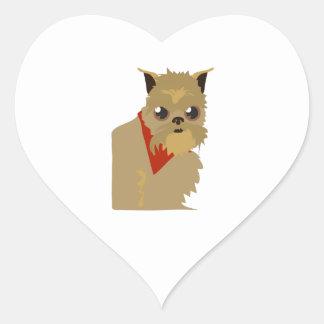 Perro gruñón calcomania de corazon personalizadas