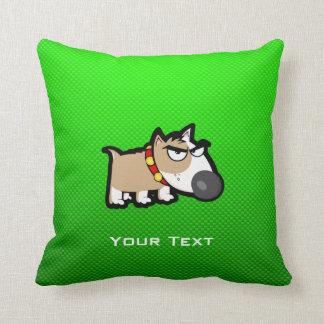 Perro gruñón; Verde Cojín