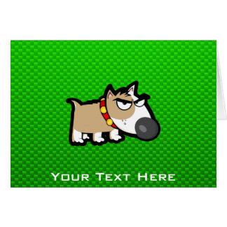 Perro gruñón; Verde Tarjeta De Felicitación