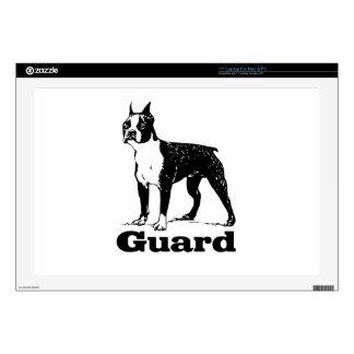 Perro guardián Boston Terrier Calcomanía Para Portátil