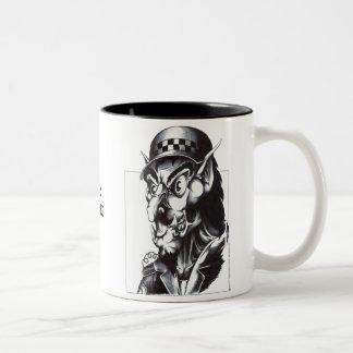 Perro guardián de la policía tazas de café