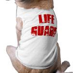 Perro guardián de la vida camisas de mascota