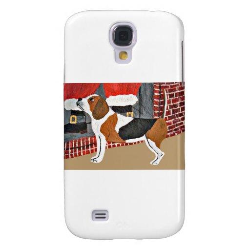 Perro guardián del beagle el Nochebuena Funda Para Galaxy S4