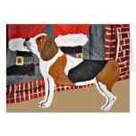 Perro guardián del beagle el Nochebuena Tarjeton