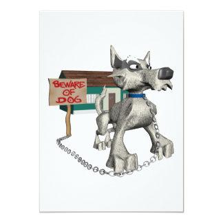 Perro guardián invitación 12,7 x 17,8 cm