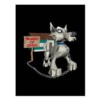 Perro guardián tarjeta postal