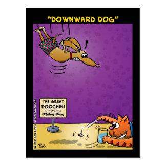 """""""Perro hacia abajo """" Postal"""