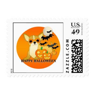 Perro Halloween de la chihuahua Sello