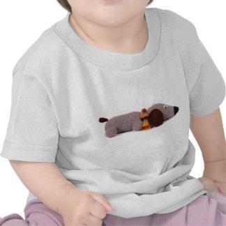 Perro hecho punto camisetas