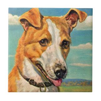 perro hermoso del perro azulejo cuadrado pequeño