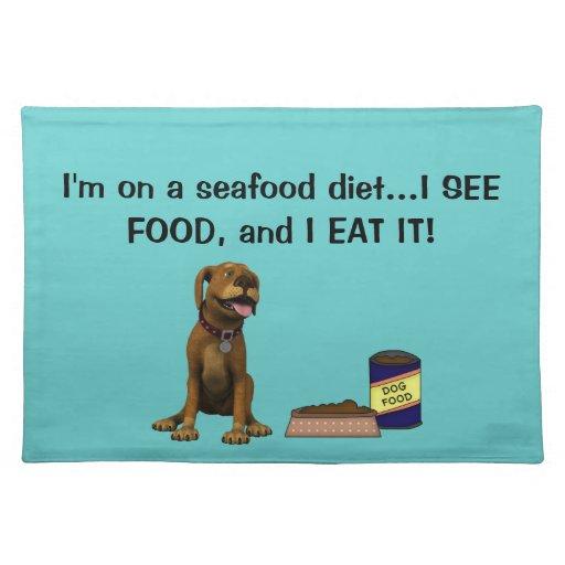 Perro Humor-Lindo del perrito+Comida y cuenco de p Mantel