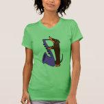 Perro impresionante del Dachshund que toca el saxo Camisetas