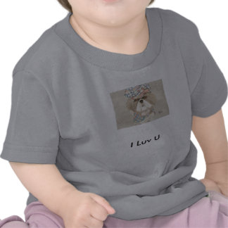 Perro infeliz del aparador I Luv U - camiseta del