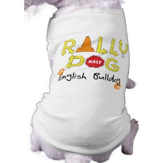 Perro inglés de la reunión del dogo camisetas mascota