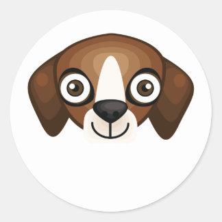 Perro inglés del Fox - mi oasis del perro Pegatina Redonda