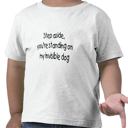 Perro invisible camisetas