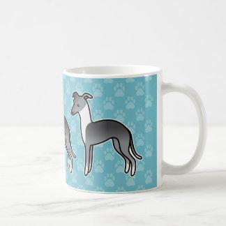 Perro irlandés azul del dibujo animado del galgo taza clásica