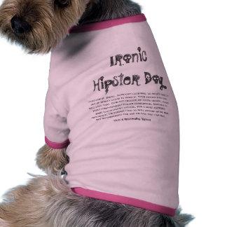 Perro irónico del inconformista, camisa del mascot camiseta con mangas para perro