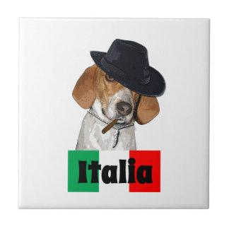 Perro italiano divertido de Charley del gángster Azulejo Ceramica