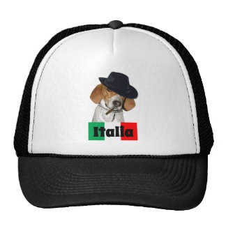 Perro italiano divertido de Charley del gángster Gorras