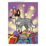 Perro/Kelpie australianos del ganado del cumpleaño Felicitación