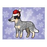 Perro/Kelpie australianos del ganado del navidad Postal