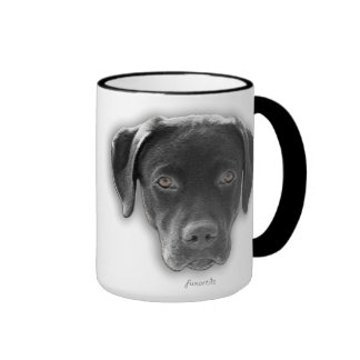 Perro labrador taza - móvil beidseitig