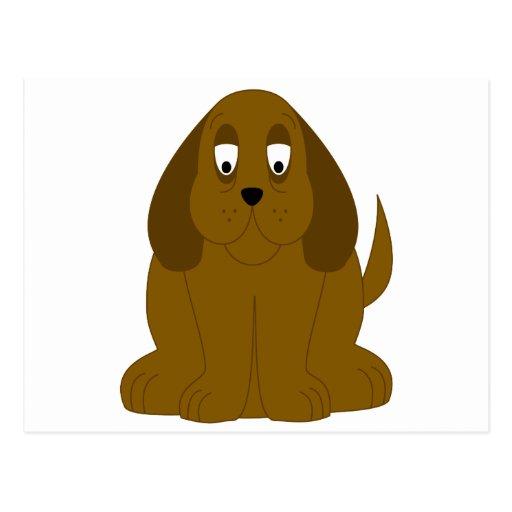 Perro lánguido de Brown Tarjeta Postal
