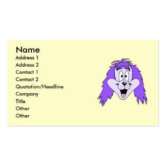 Perro lanudo púrpura. Historieta Tarjetas De Negocios