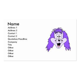 Perro lanudo púrpura. Historieta Tarjetas De Visita