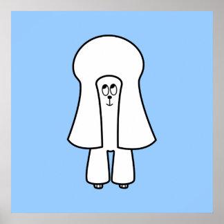 Perro lindo Caniche de juguete blanco caniche min Poster