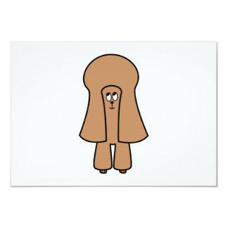 """Perro lindo. Caniche marrón de la miniatura/de Invitación 3.5"""" X 5"""""""