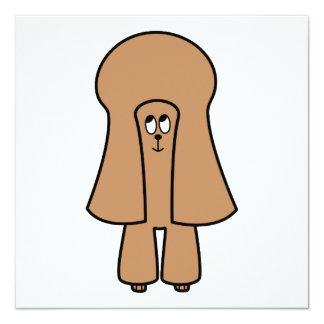"""Perro lindo. Caniche marrón de la miniatura/de Invitación 5.25"""" X 5.25"""""""