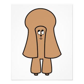 "Perro lindo. Caniche marrón de la miniatura/de jug Folleto 4.5"" X 5.6"""