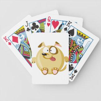 Perro lindo cartas de juego