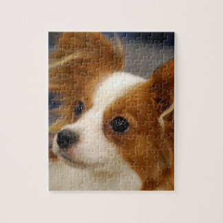 Perro lindo de Papillon Puzzle Con Fotos