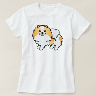 Perro lindo de Pomeranian del dibujo animado del Playeras