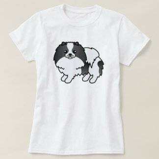 Perro lindo de Pomeranian del dibujo animado del Remera