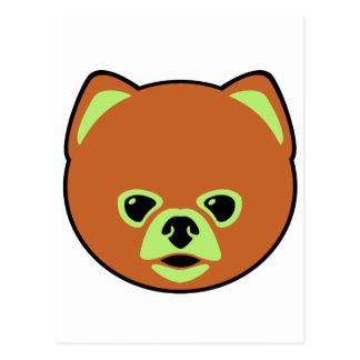 Perro lindo de Pomeranian Postal