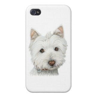 Perro lindo de Westie iPhone 4/4S Carcasa