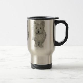 Perro lindo de Westie Tazas De Café