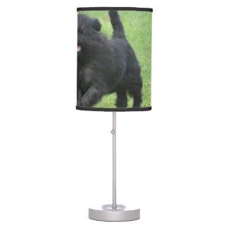 Perro lindo del Affenpinscher Lámpara De Mesa