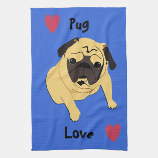 Perro lindo del amor del barro amasado toalla