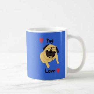 Perro lindo del amor del barro amasado taza de café