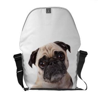 perro lindo del barro amasado bolsa de mensajería