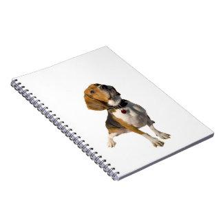 Perro lindo del beagle libro de apuntes con espiral