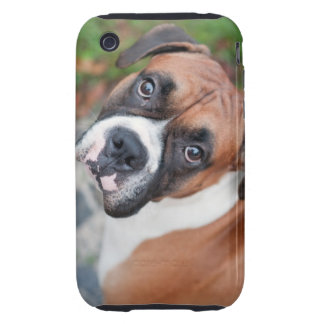 Perro lindo del boxeador iPhone 3 tough protectores