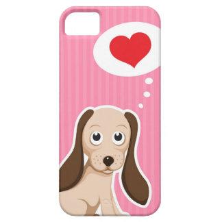 Perro lindo del dibujo animado con el caso femenin iPhone 5 Case-Mate cobertura