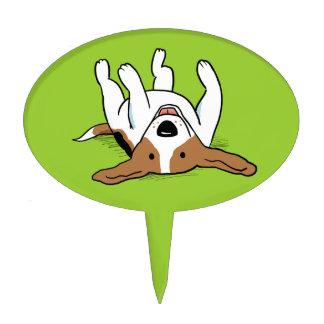 Perro lindo del dibujo animado del beagle figura de tarta